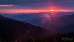 Wschód Słońca nad Beskidem Żywieckim