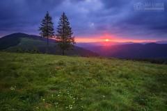 Wschód słońca na Rysiance